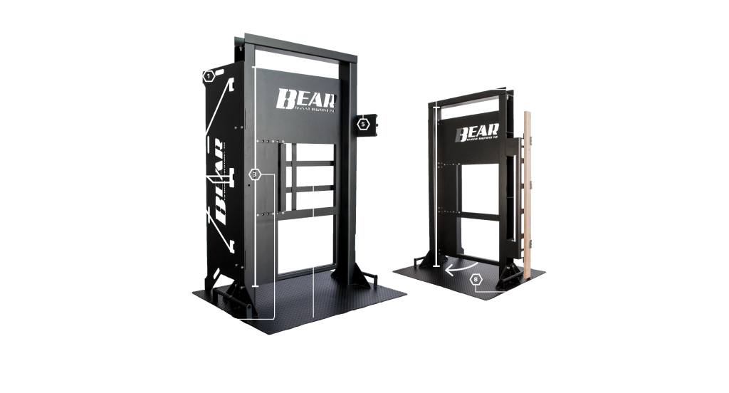 The Ultimate Training Door showing all features