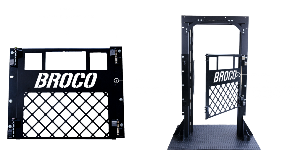 The Broco Screen Door Emulator can either be mounted as a standalone training feature in any 36